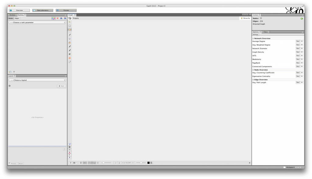 Gephi 0.8.2-beta empty Graph window on MacOS X 10.8.5