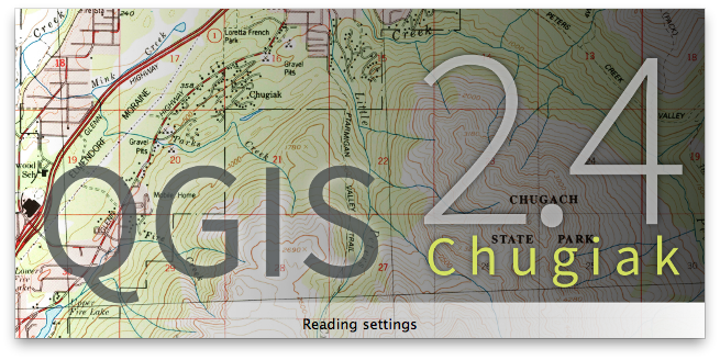 QGIS 2.4 Chugiak splash screen