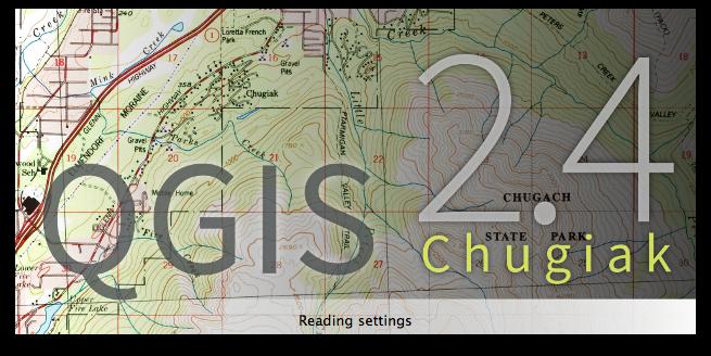 QGIS 2.4 Chugiak splash screen