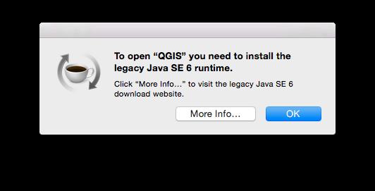Updated Java SE 6 runtime necessary