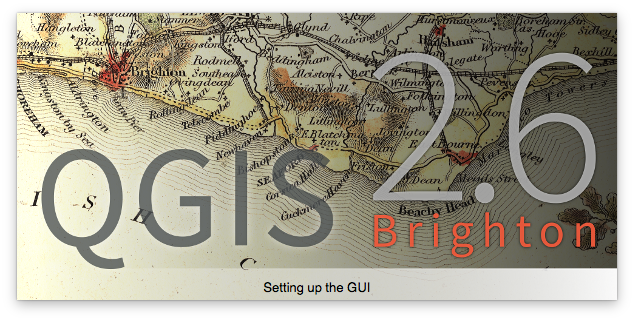 "QGIS 2.6 ""Brighton"" splash screen"