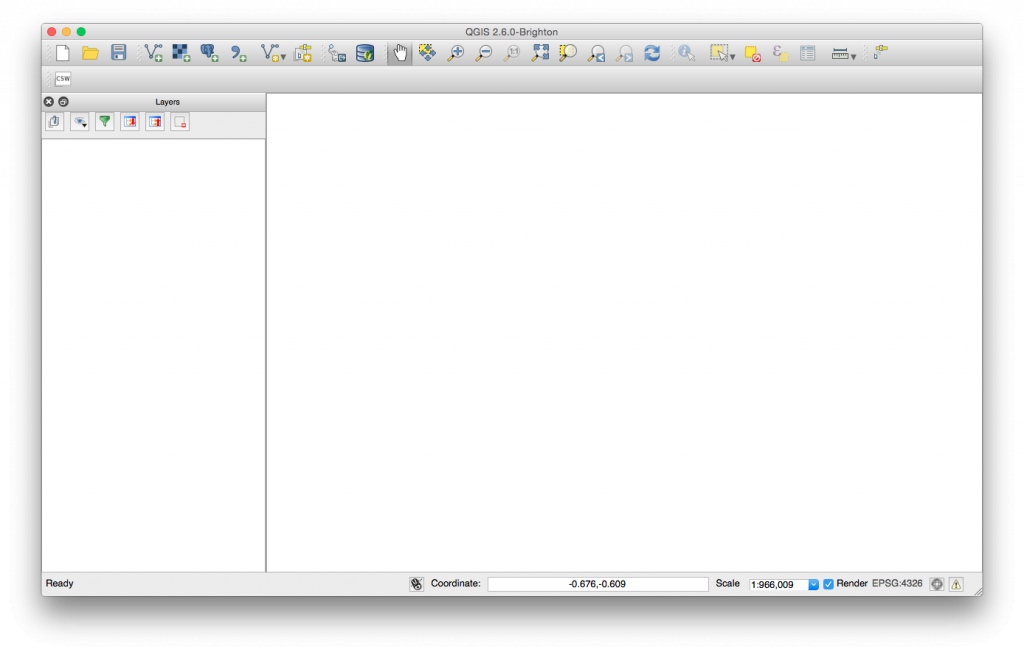 "QGIS 2.6 ""Brighton"" UI on Yosemite"
