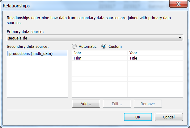 Verbindung zwischen der Datei sequels-de.txt und der Film-Datenbank
