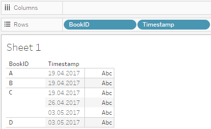 Events have timestamps after extracting the date information from the filenames using regular expressions