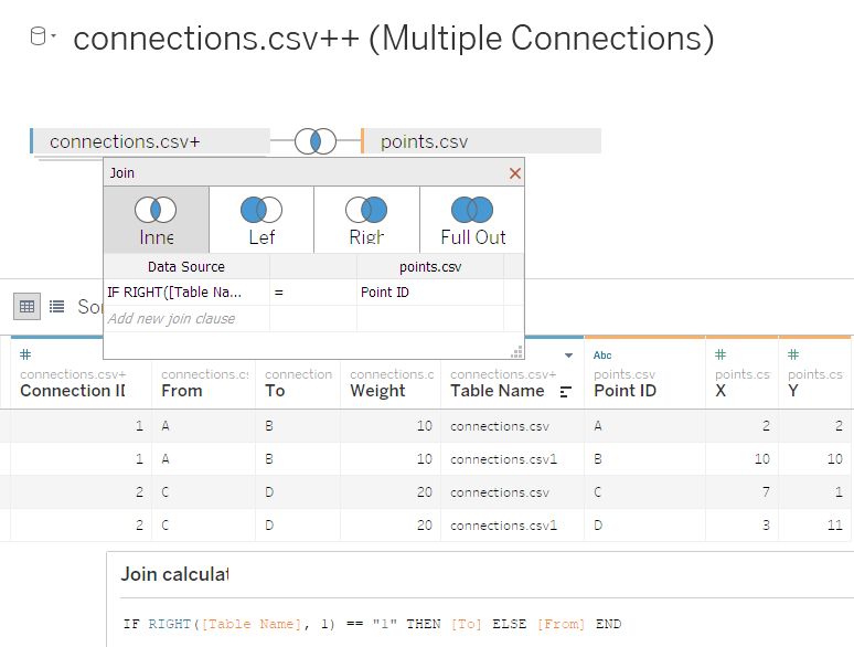 Creating Paths in Tableau: Calculated Join between connections and points files