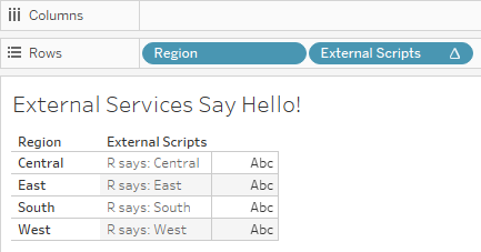 External Services Say Hello!