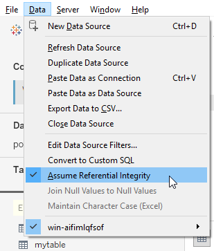 Assume referential integrity for our data model